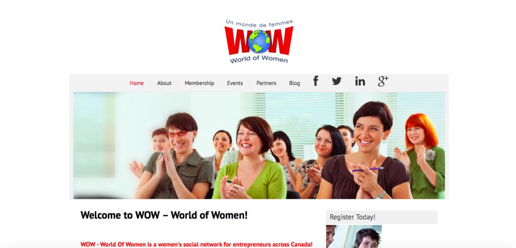 The original WOW website