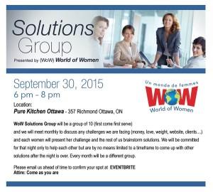 WOW Ottawa - Solutions Group @ Pure Kitchen | Ottawa | Ontario | Canada