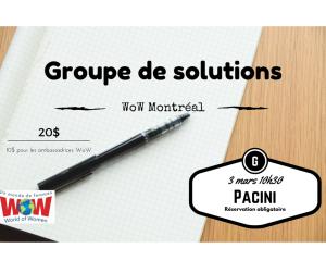 WOW MONTREAL - Groupe de solution @ Pacini Langelier   Montréal   Québec   Canada